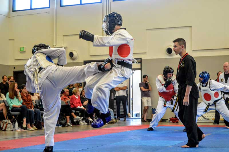 taekwondo sparring